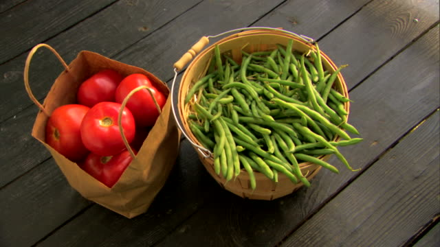 fresh organic produce - see other clips from this shoot 1425 stock videos & royalty-free footage