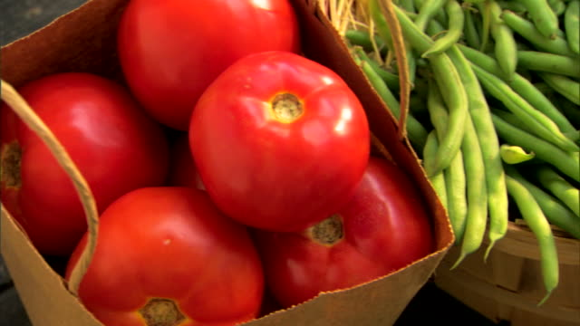 fresh organic produce - see other clips from this shoot 1425 stock videos and b-roll footage