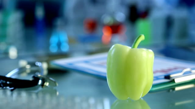 fresh pepper in lab - hoozone stock videos and b-roll footage