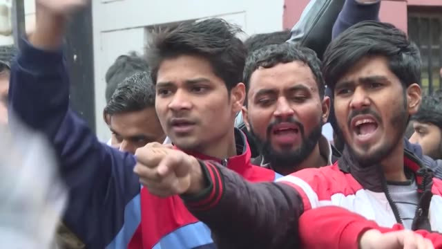 fresh protests rocked india monday as anger grew over new citizenship legislation slammed as anti muslim with six people dead in the northeast and up... - citizenship stock videos & royalty-free footage