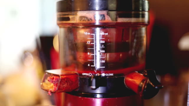 fresh red juice from blender - tomato juice stock videos and b-roll footage