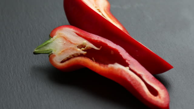 fresh red peppers - red bell pepper stock videos & royalty-free footage