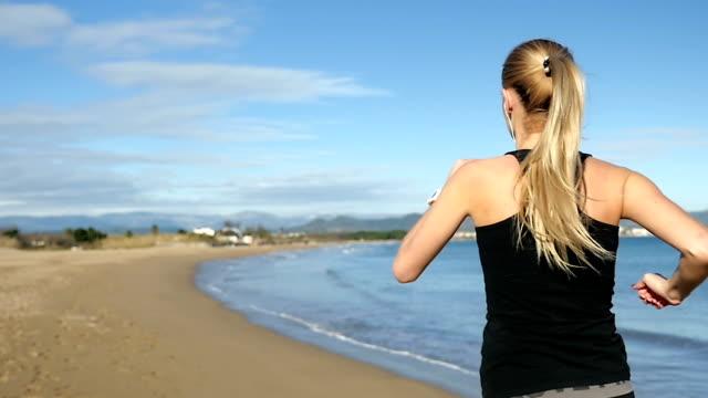 Fresh running on the beach