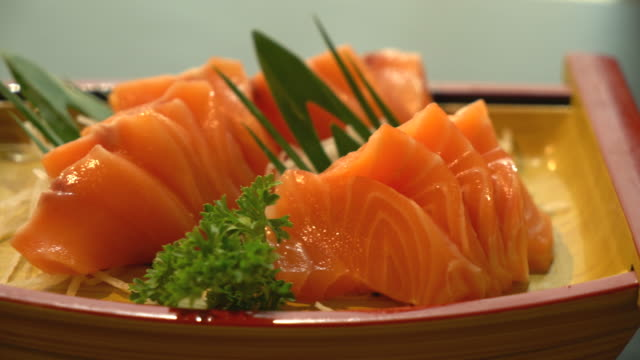 fresh salmon sashimi - japanese food
