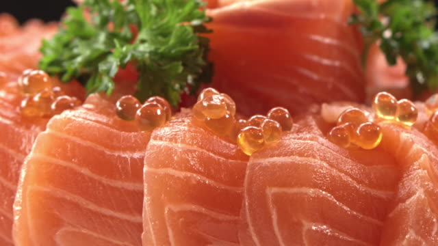 fresh salmon textured - juicy stock videos & royalty-free footage