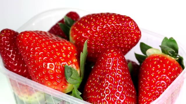 fresh strawberries in packaging