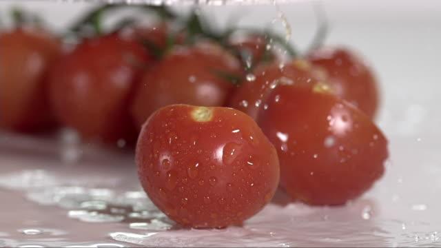 fresh tomato cut into halfs V4