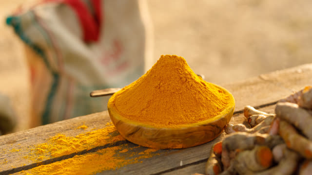 fresh turmeric - vitamin stock videos & royalty-free footage