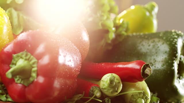 Mistura de legumes frescos