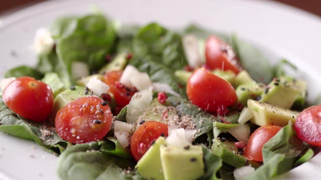 fresh vegetable salad - salad stock videos & royalty-free footage
