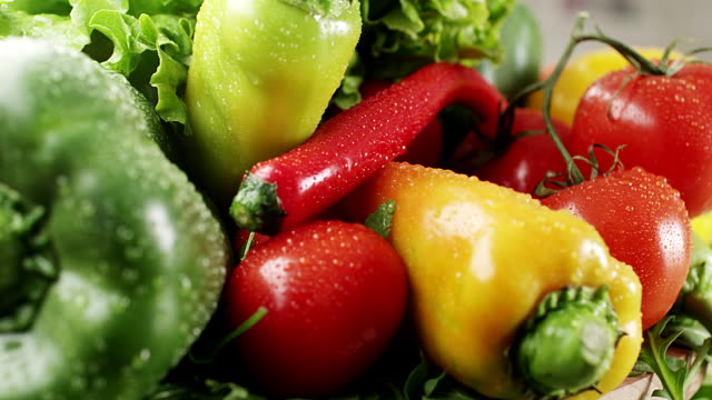 fresh vegetable - pepper vegetable stock videos and b-roll footage