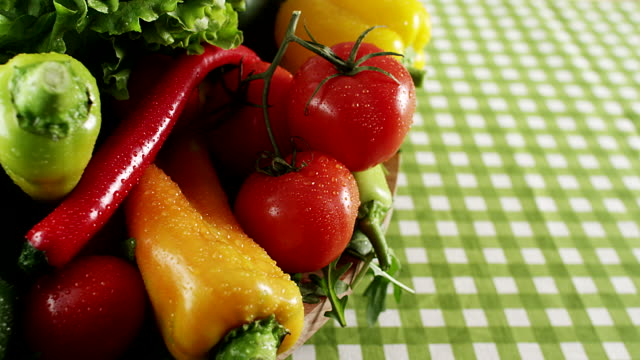 fresh vegetable - group of objects stock videos & royalty-free footage
