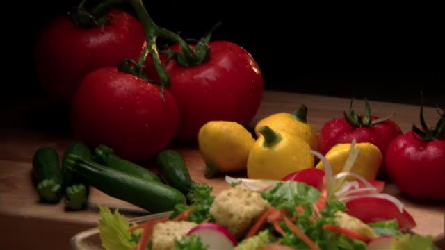cu, td, fresh vegetables and salad  - crucifers stock videos & royalty-free footage