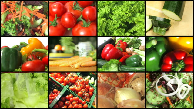 fresh vegetables - montage - organic stock videos & royalty-free footage