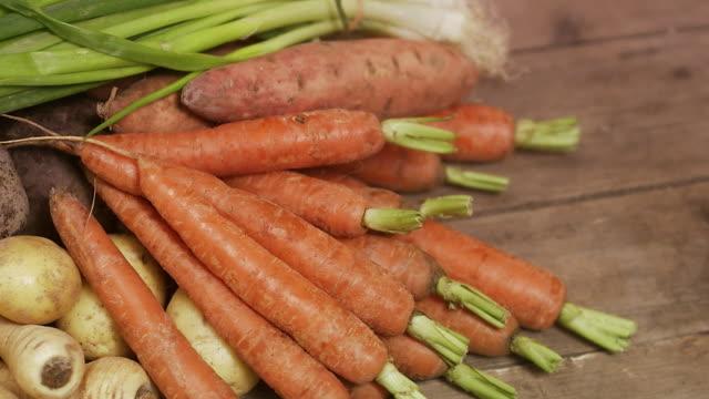 fresh vegetables sweden. - sweet potato stock videos & royalty-free footage
