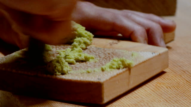 fresh wasabi : japanese food - recipe stock videos & royalty-free footage
