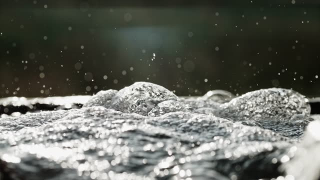cu fresh water bubbling from source - freshwater stock videos & royalty-free footage