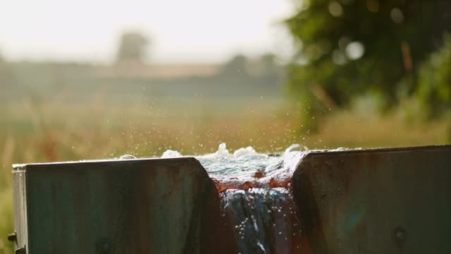 MS Fresh water bubbling from source