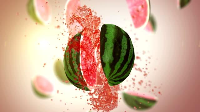 Fresh Watermelon (Slow Motion)
