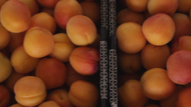 cu freshly picked apricots box / central otago, new zealand - chain stock videos & royalty-free footage