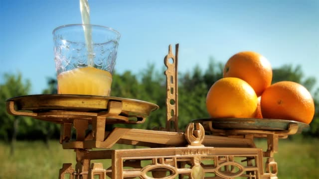freshly squeezed orange juice - weight scale stock videos & royalty-free footage