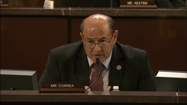 Freshman California Congressman Lou Correa tells Homeland security Secretary John Kelly about his residence in Anaheim California where there are a...
