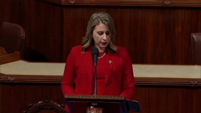 freshman congresswoman katie hill of california says in her final speech to the house before resigning office that she voted for impeachment... - hill点の映像素材/bロール