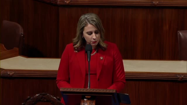 freshman congresswoman katie hill of california says in her final speech to the house before resigning office that she would never shirk her... - hill点の映像素材/bロール