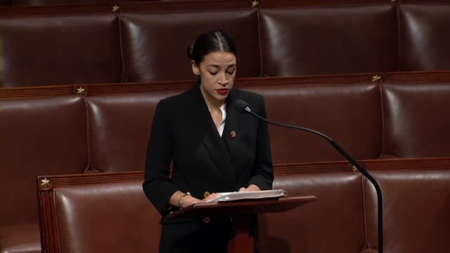 freshman new york congresswoman alexandria ocasio cortez says on day 26 of a partial government shutdown that it is about the erosion of american... - day26 stock videos & royalty-free footage