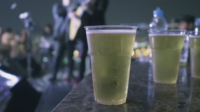 freshness draft beer and music - carbonated stock videos & royalty-free footage