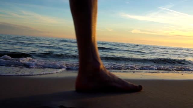 freshness of sea walking - barefoot stock videos & royalty-free footage