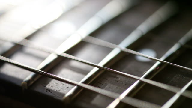 fretboard - string stock videos and b-roll footage