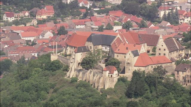freyburg and neuenburg castle - turingia video stock e b–roll