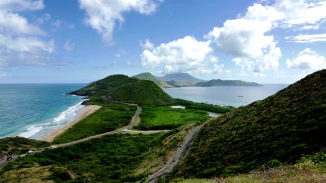 vidéos et rushes de friars bay à saint-kitts-et-nevis - mer des caraïbes