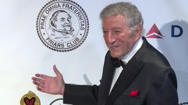 clean friars club honors tony bennett with the entertainment icon award at new york sheraton hotel tower on june 20 2016 in new york city - robert davi stock videos and b-roll footage