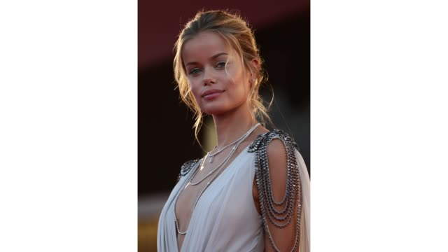 gif frida aasen walks the red carpet ahead of the movie amants at the 77th venice film festival at on september 03 2020 in venice italy - gif stock videos & royalty-free footage