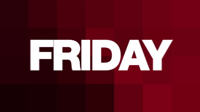 friday text animation - sunday stock videos & royalty-free footage