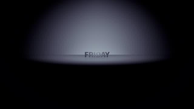 friday week day horizon zoom - weekday stock videos & royalty-free footage