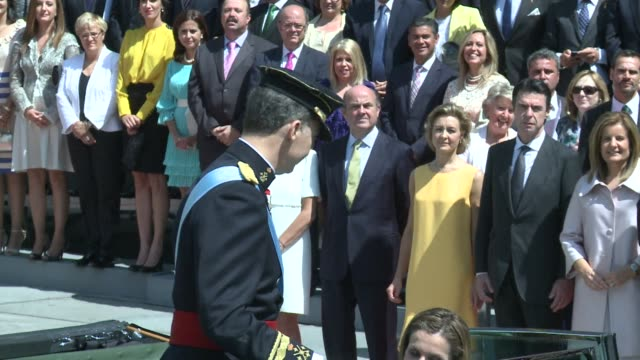 friday will mark six months since king felipe of spain acceded to the throne after his father juan carlos abdication - abdication stock videos and b-roll footage
