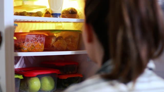 fridge full of health - plastic container stock videos & royalty-free footage