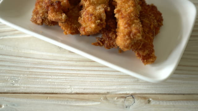 fried chicken stick with ketchup - finger stock videos & royalty-free footage