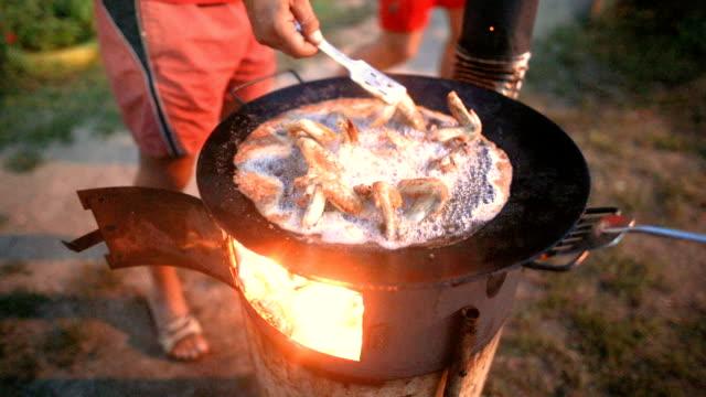 Stekt kyckling, gamla panna, återvinning, Hemmagjord