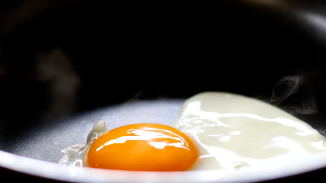 fried egg close-up dolly shot close-up - dolly shot stock videos & royalty-free footage