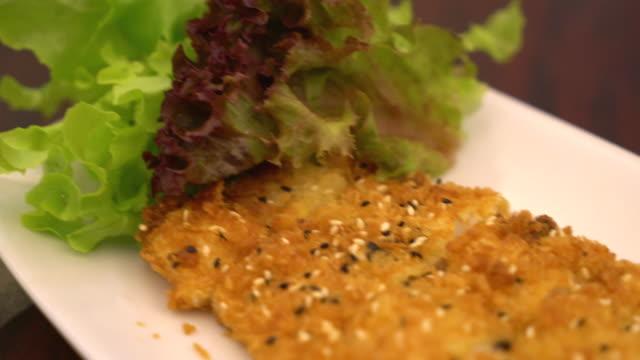 揚げ魚のステーキ