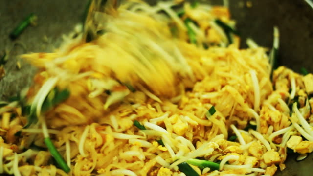Fried Noodle (Pad Thai) in Thai style at home / Thailand