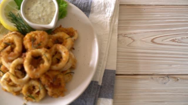 fried squids or octopus (calamari)