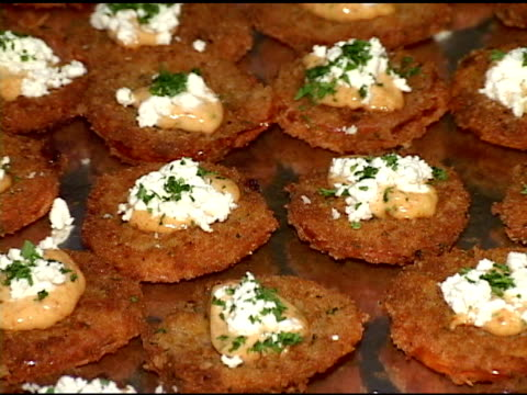 fried tomatoes - sour cream stock videos & royalty-free footage