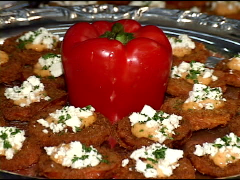 fried tomatoes with red pepper - sour cream stock videos and b-roll footage