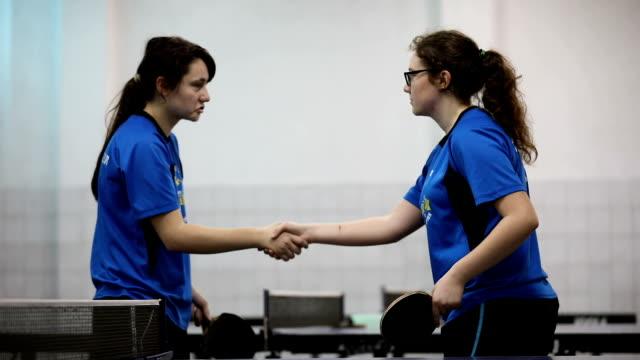 friendly handshake - table tennis stock videos & royalty-free footage