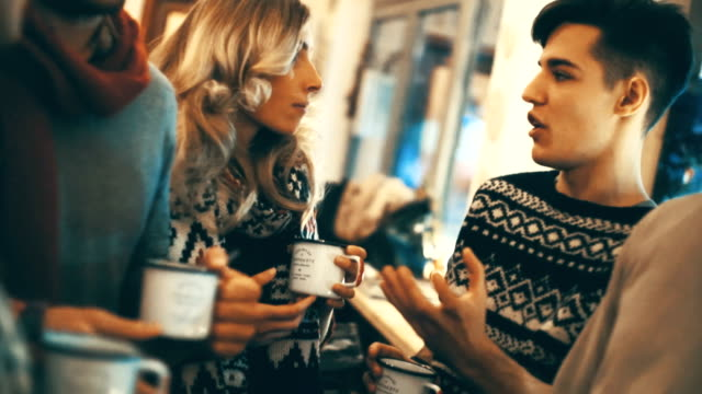 friends at a coffee place. - coffee drink stock videos & royalty-free footage